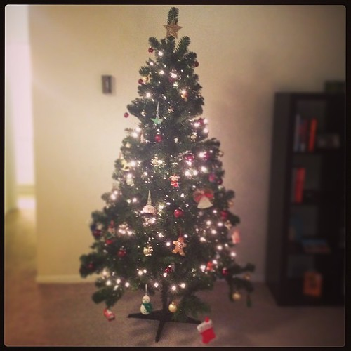 Last night's project: my first grown up Christmas tree.