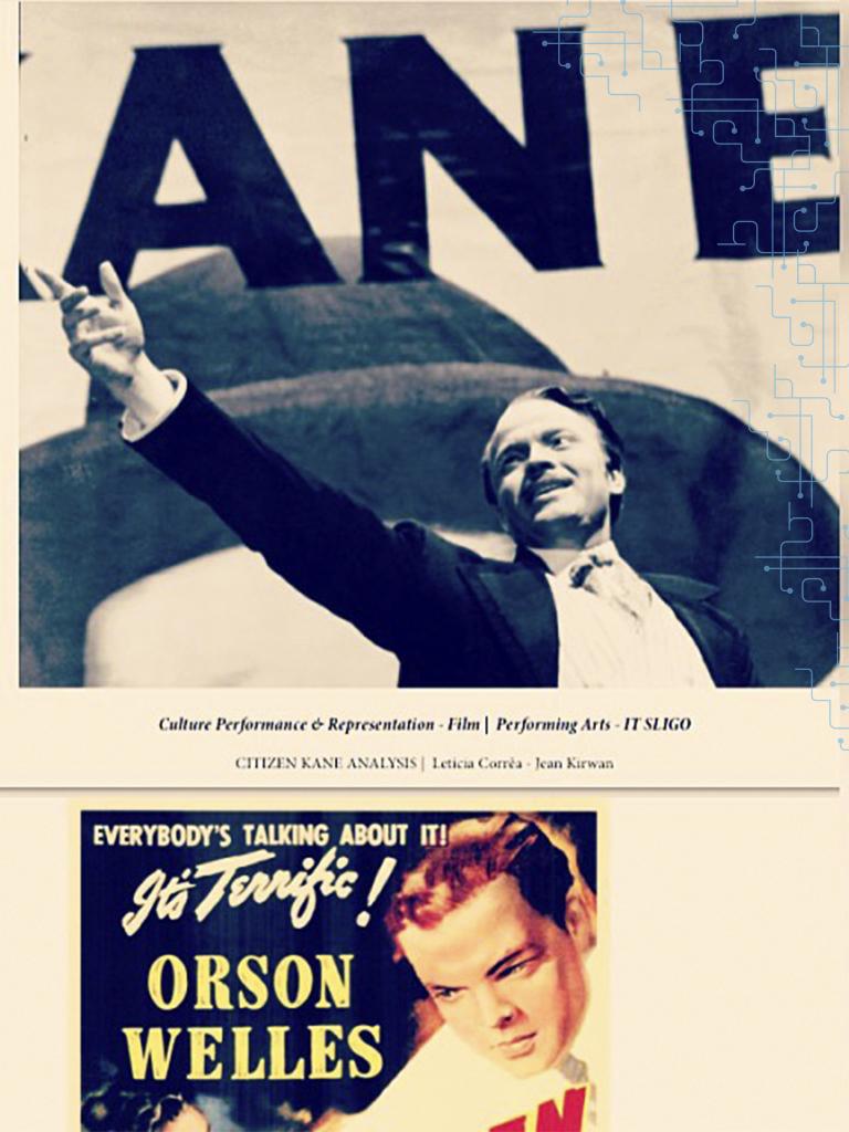 Apresentando seminário sobre o filme Cidadão Kane