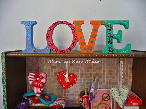 Letras coloridas na decoração