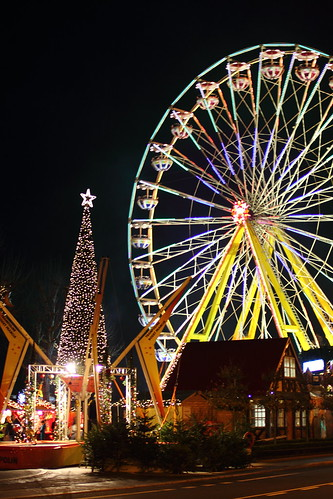 Christmas tree and Ferris wheel