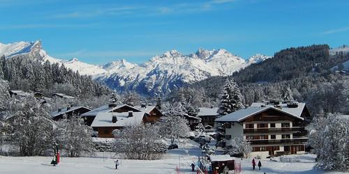 Panorama, Megève, Haute-Savoie, Rhône-Alpes, France.