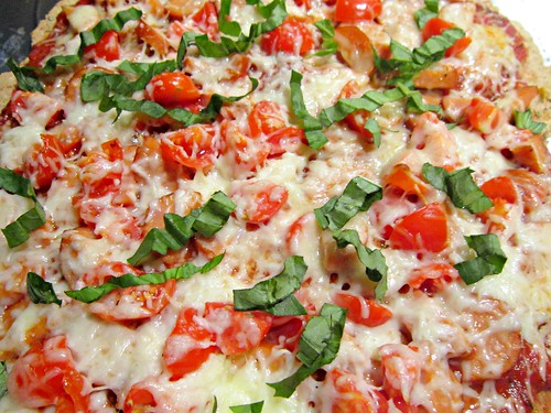 Chicken Sausage and Herb Wheat Pizza