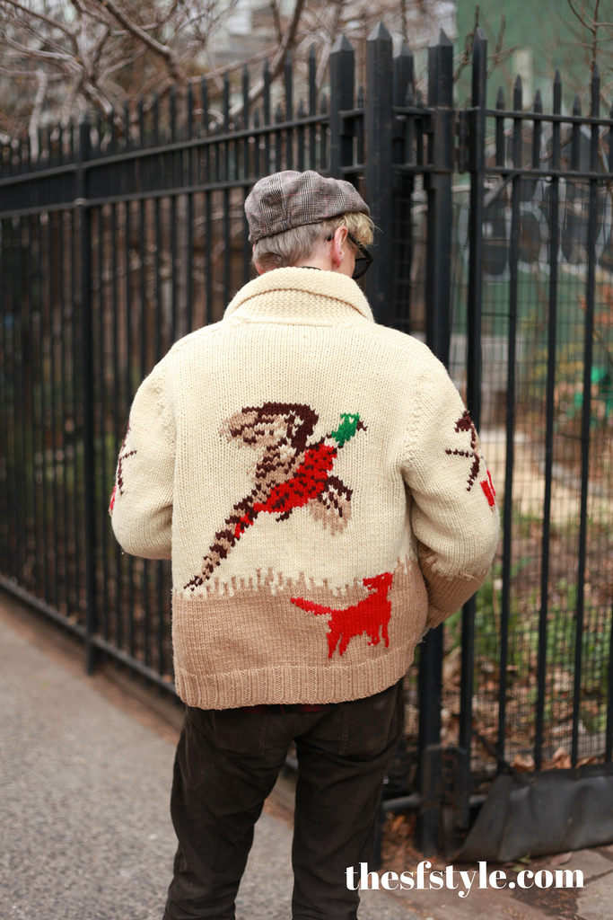 man morsel monday, cowichan sweater, STREETFASHIONSTYLE, new york streetstyle fashion blog,