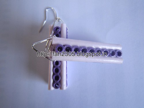 Handmade Jewelry - Paper Quilling Bar Earrings (12) by fah2305