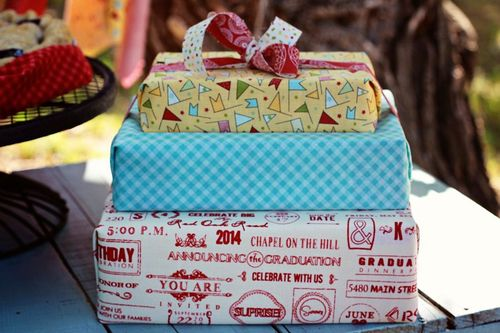 Gifts wrapped with Wishes fabric by Sweetwater for Moda Fabrics