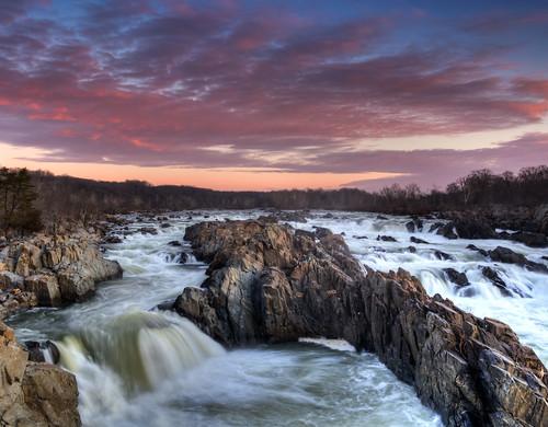 nature sunrise landscape va potomacriver 2014 waterscae greatfallswaterfalls dangirardphotography