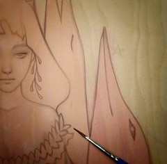 Work in progress from Amy Sol for Thinkspace's booth with SCOPE NYC this March