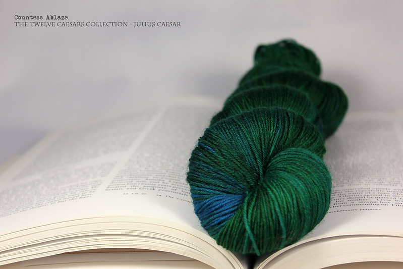 Hand dyed yarn by Countess Ablaze