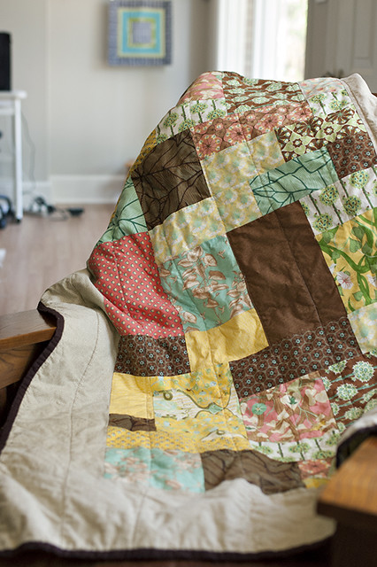 Botany Quilt in Chair