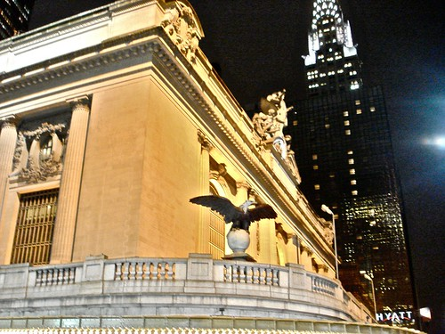 The Chrysler and Grand Central Station by PHOTOFENNISH