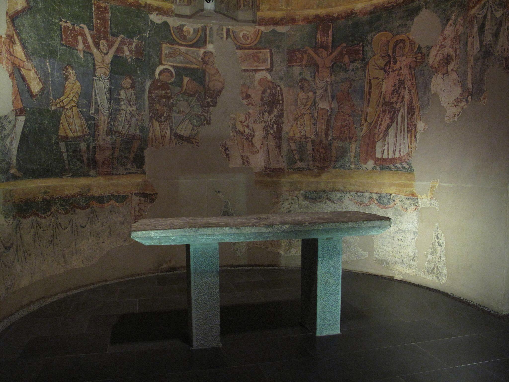 museo diocesano de jaca_sala bagues_traslado_lienzos