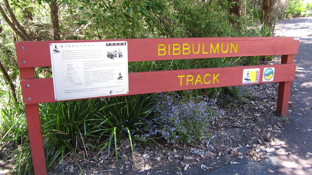 Day 45: Bibbulmun Track sign in Treetop car park