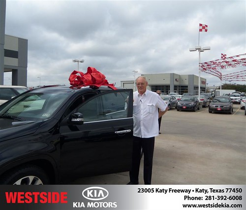 Happy Anniversary to Jim Parish on your 2014 #Kia #Sorento from Guzman Gilbert and everyone at Westside Kia! #Anniversary by Westside KIA