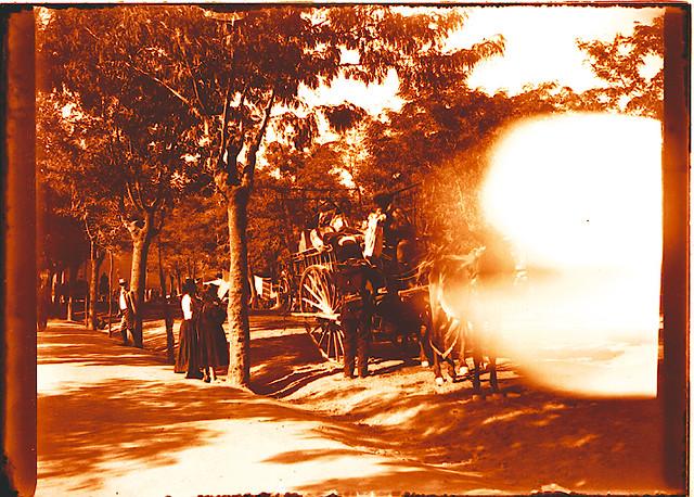 Paseo de Merchán hacia 1910. Fotografía de Pedro román Martínez © Fondo Rodríguez. Archivo Histórico Provincial de Toledo. JCCM. Signatura R-150-4-10