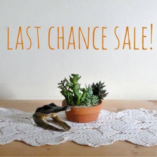 Last Chance Sale Reminder!