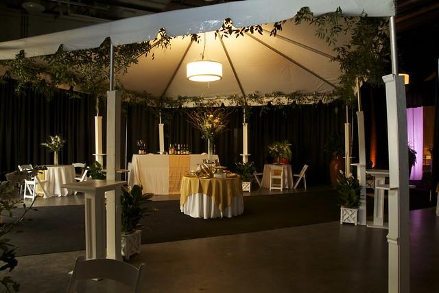 Tent Column Treatments, Decorative Column Tables, Drum Shade (36inch)- Roper Gala 2014
