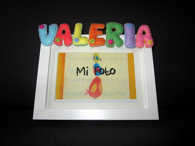 Marco de fotos personalizado - Valeria