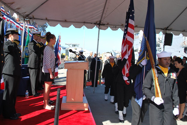 USS Benfold (DDG 65) Change Of Command Ceremony, March 14, 2014