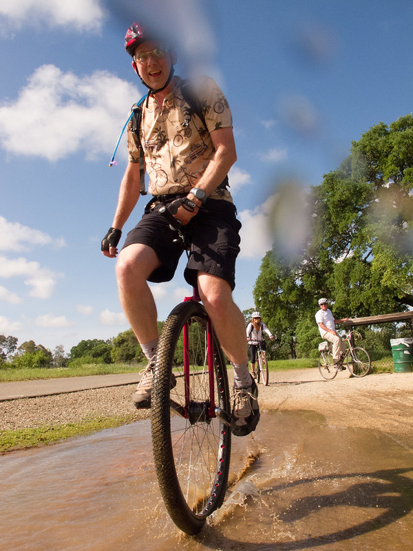 John in the mud puddle