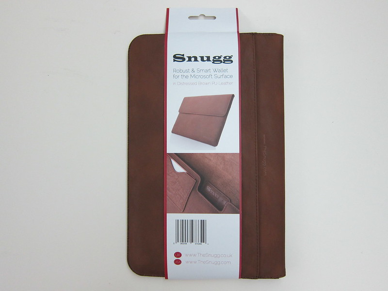 Snugg Microsoft Surface 2 Sleeve - Packaging Back