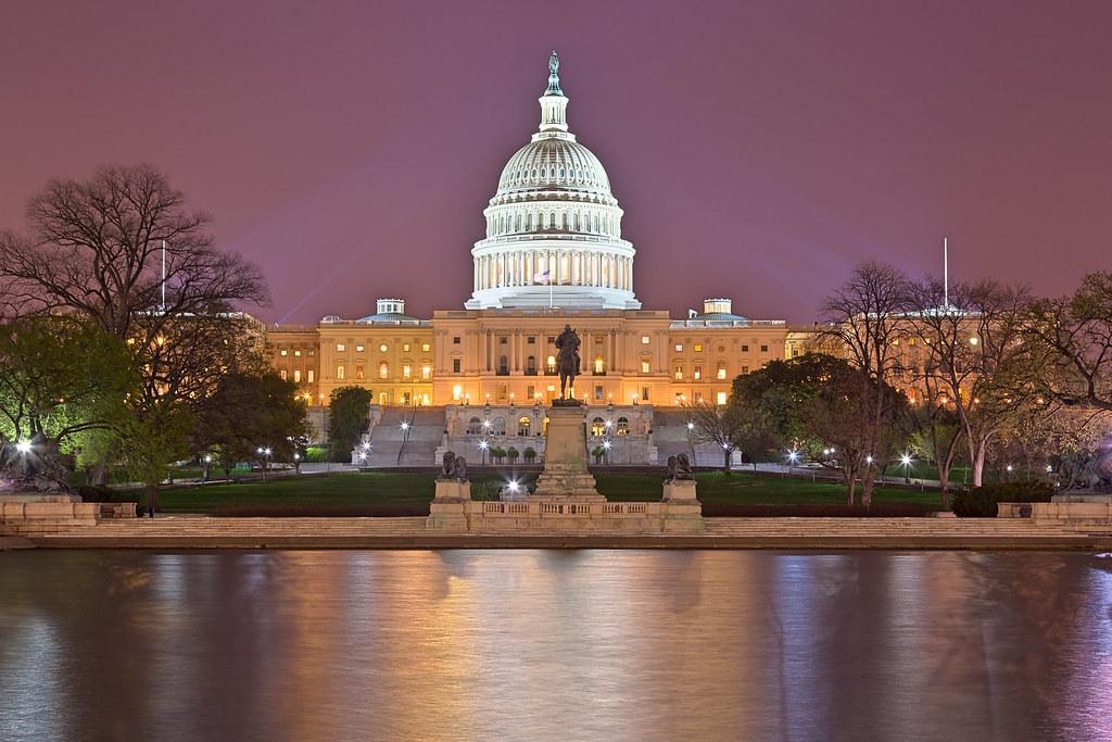 Washington DC Capitol - Purple Hour HDR