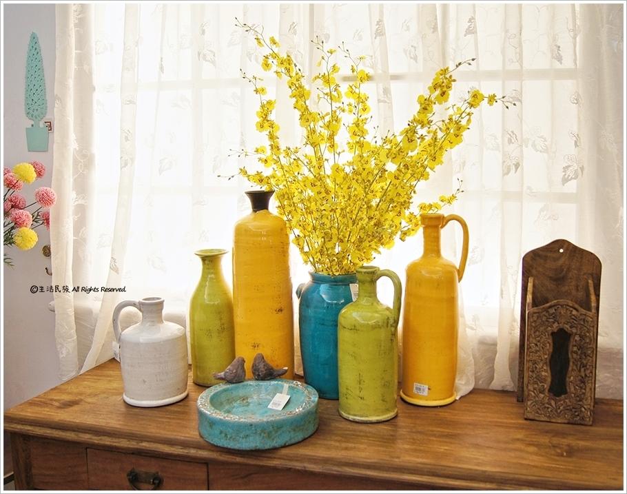 草绿色清酒瓶造型窄口冰裂纹厚釉复古刷旧花器花瓶 摆饰 简约 地中海