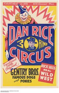 Dan Rice Three Ring Circus / Cirque à trois arènes de Dan Rice