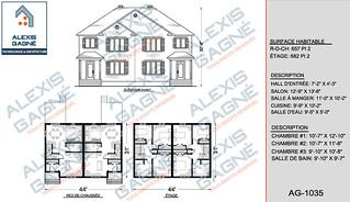 Plan de maison jumelé - MJ.02