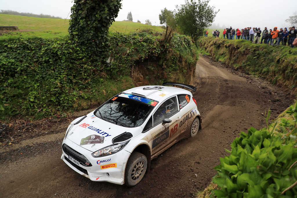 15 KOLTUN Jaroslaw PLESKOT Ireneusz Ford Fiesta R5 Action during the 2017 European Rally Championship ERC Azores rally,  from March 30  to April 1, at Ponta Delgada Portugal - Photo Jorge Cunha / DPPI