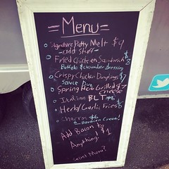 menu #baconneds #foodtruck #oldoxbrewery @mgk_baconneds @oldoxbrewery