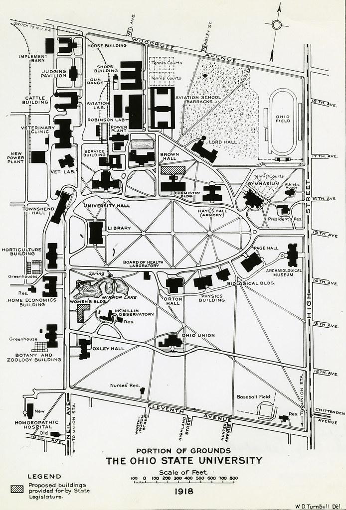 Ohio State Map Campus.Campus Map 1918 1918 Campus Map Portion Of Ohio State Un Flickr