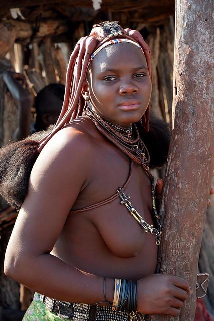 Himba girl - Himba village in Kaokoland, Namibia.