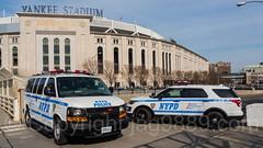 NYPD Police Patrol Cars, Yankee Stadium, The Bronx, New York City