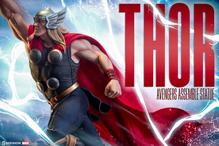 Sideshow Collectibles【雷神索爾】Avengers Assemble Thor 1/5 比例全身雕像作品