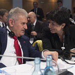 Binali Yildirim and Doris Leuthard at the Closed Session