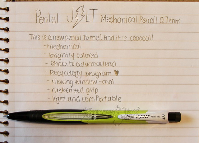 Pentel Jolt 0.7mm Mechanical Pencil Writing Sample