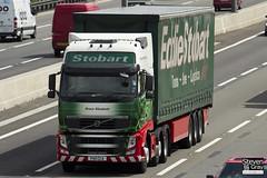 Volvo FH 6x2 Tractor - PX11 CCA - Grace Elizabeth - Eddie Stobart - M1 J10 Luton - Steven Gray - IMG_9496