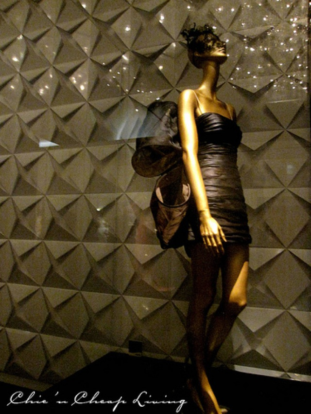 Valentino, Chrysalis lacquered lace gown 2009 at Valentino Retrospective - by Chic n Cheap Living