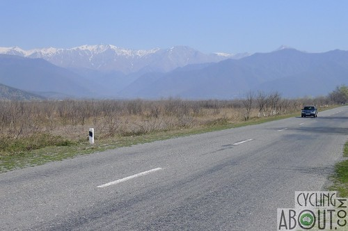 Azerbaijan Caucasus mountain road