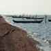 Canoas - Canoes on inland sea; Playa de San Mateo del Mar, Región Istmo, Oaxaca, Mexico por Lon&Queta