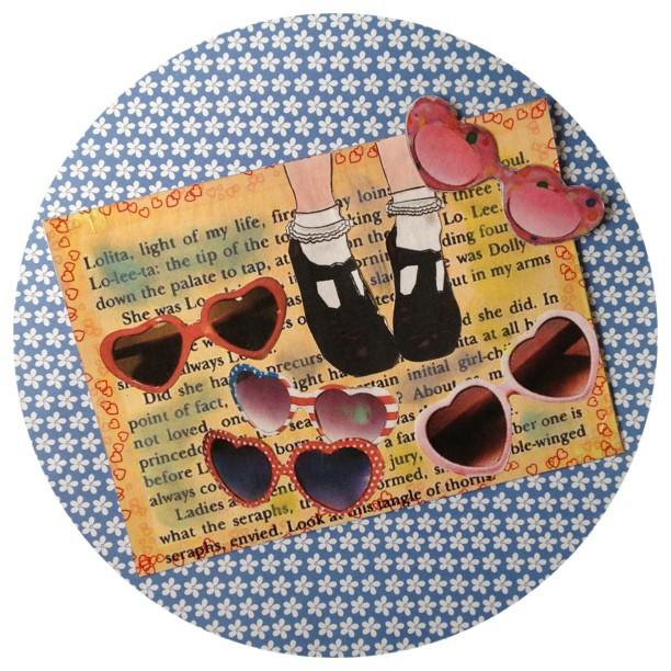 #postcard #book #miniletter #lolita #glasses #snailmail #handmade #incoming