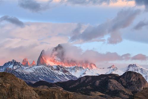 travel patagonia mountain argentina sunrise landscape fitzroy