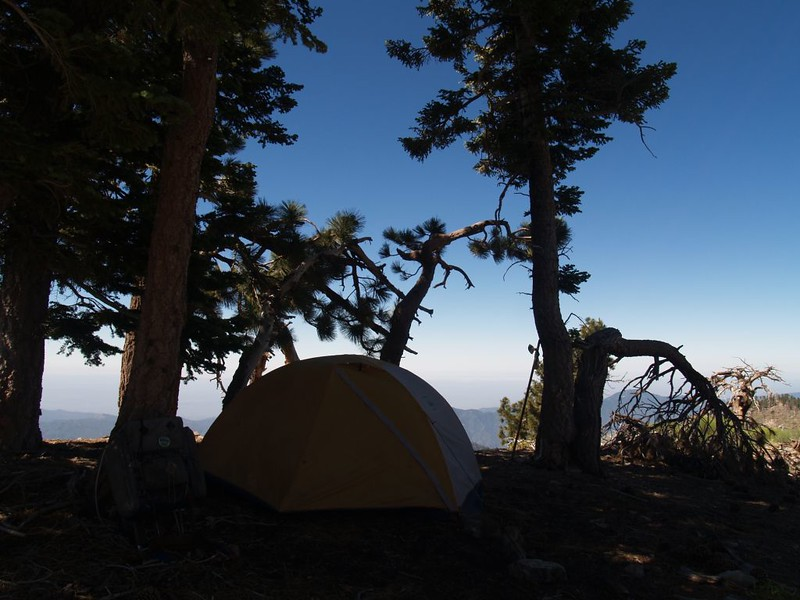 Our tent on the east ridge of Mount Islip
