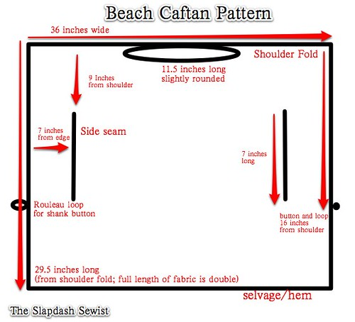 Beach Caftan Pattern