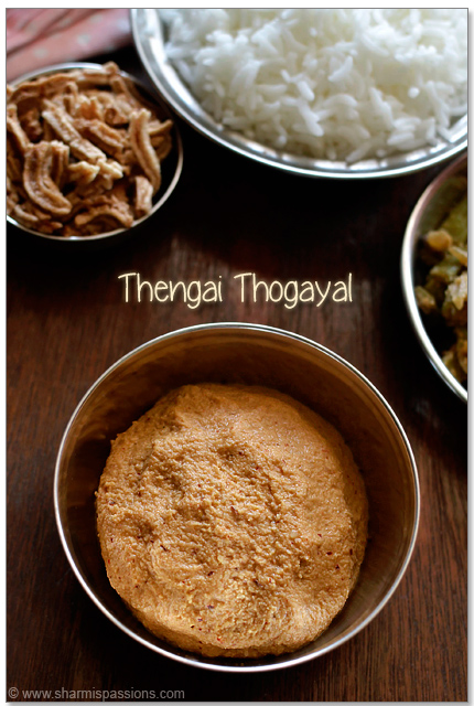 Rice with Thengai Thogayal
