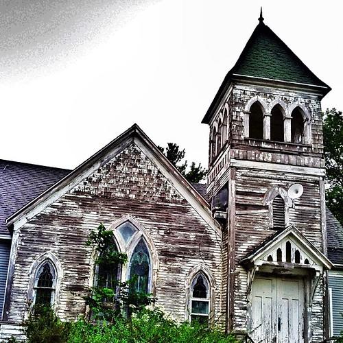 #old #church #country #urbana #illinois #ruin