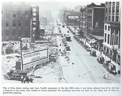 Olive Street widening 1920s
