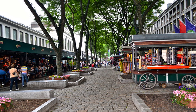 historic boston - quincy market in boston