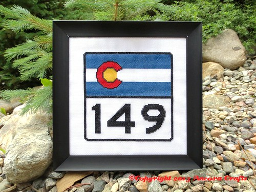 Colorado Highway Sign Cross Stitch