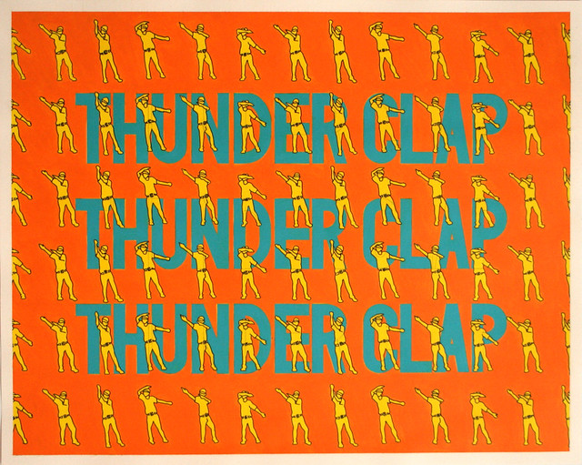 Thunder Clap, Acrylic & Ink on Paper, 50 cm x 40cm